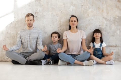 family yoga breathing
